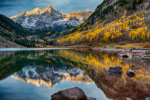 Maroon Lake - Fall Colors Reflection