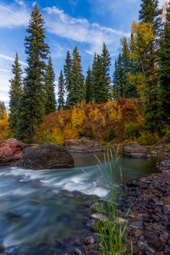 Colorado Stream in Fall