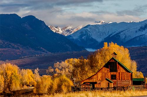 Colorado Lodge in Fall